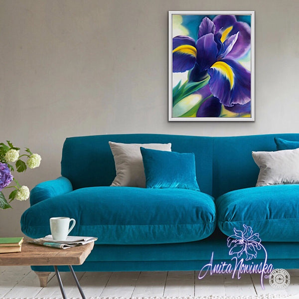 'Ambition'-Purple Iris Flower Painting