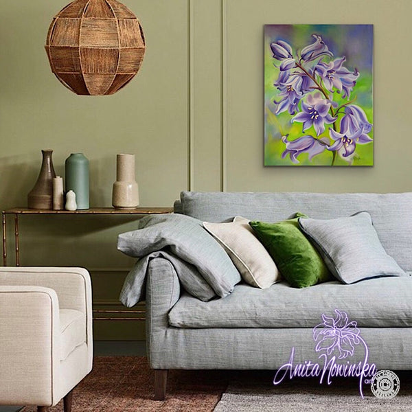 'Humility'- Bluebell Flower Painting