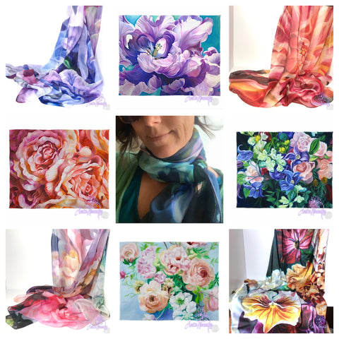 BEAUTIFUL CHIFFON SCARVES