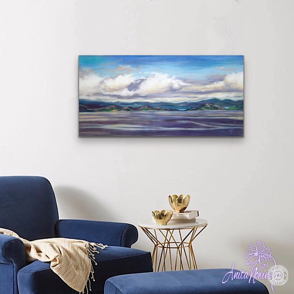 Low Tide- View to Aran, Landscape Painting