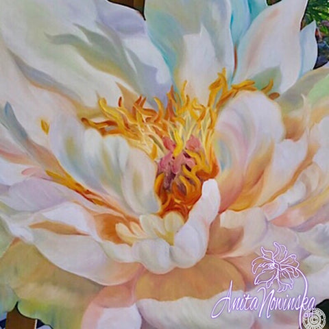 'Opulence' -Freeform Flower Oil Painting