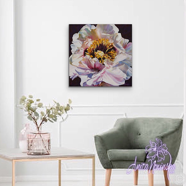Positive Thinking- Tree Peony Flower Painting