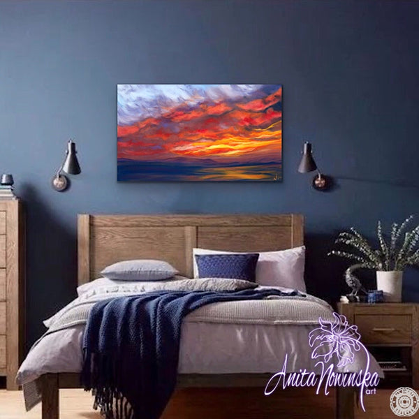 Sky Fire- Original Sunset painting