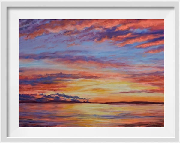 TOWARDS PEACE- SUNSET PAINTING