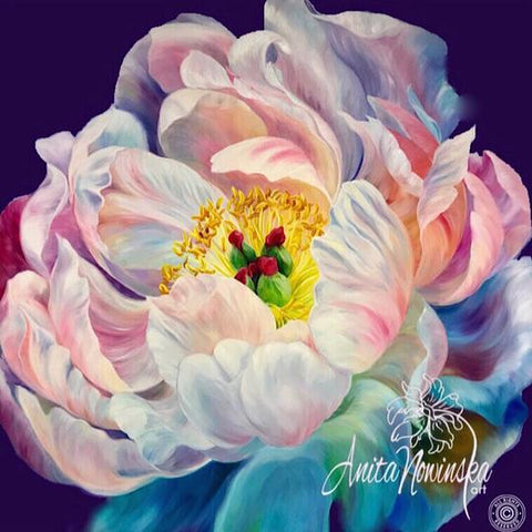 limited edition print of peony flower painting by Anita Nowinska
