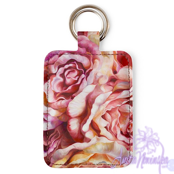 Designer floral key ring, accessories from anita nowinska flower paintings