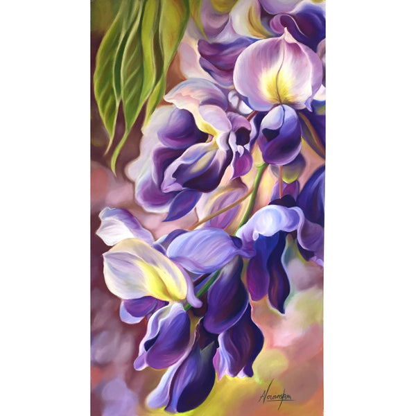 Wonderful art painting workshops with renowned floral artist Anita Nowinska. Explore how the colours of flowers and nature create wellbeing. Learn to paint