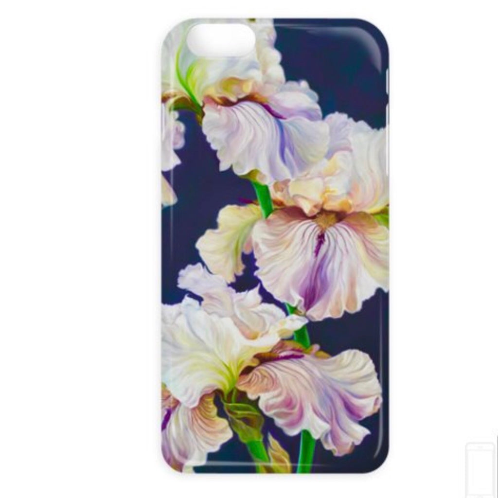 designer phone case- luxury- iphone, samsung, iris, irises, floral, art, flower paintings
