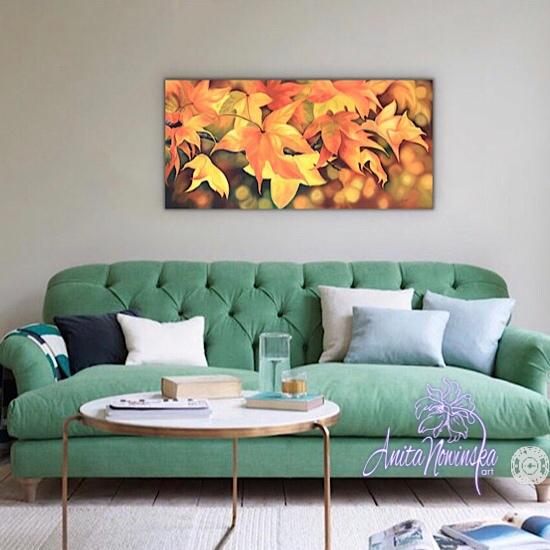 Love's Glow- Painting of Autumn Leaves