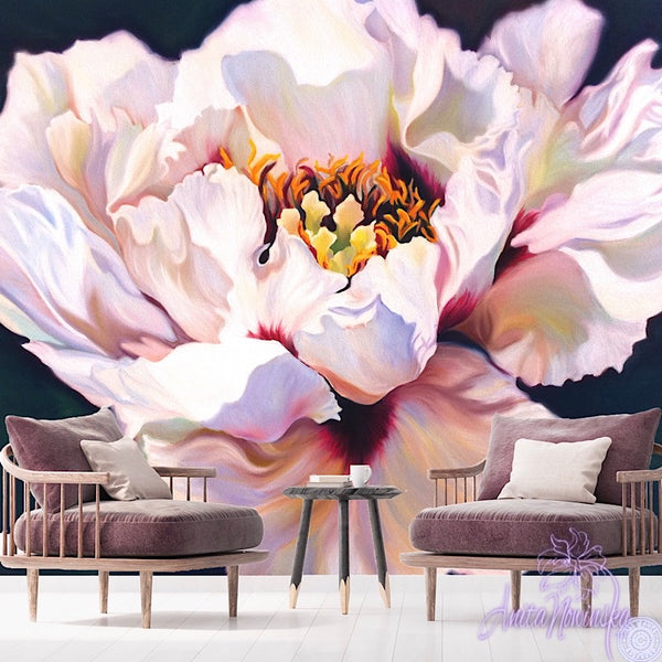 Tree Peony- Floral Wallpaper Mural