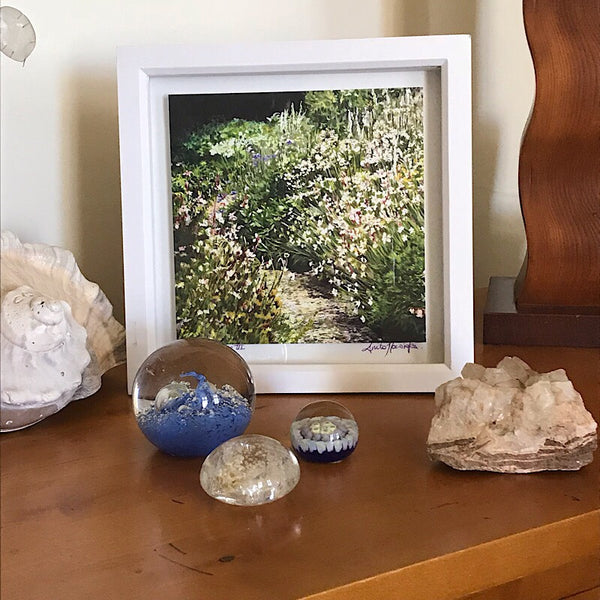 a ready framed limited edition print from the white garden flower painting by Anita Nowinska. Its a perfect christmas gift