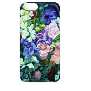 roses & clematis designer floral iphone case, samsung galaxy case- anita nowinska flower paintings