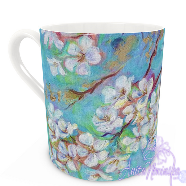 floral art bone china cup home accessories, blossom