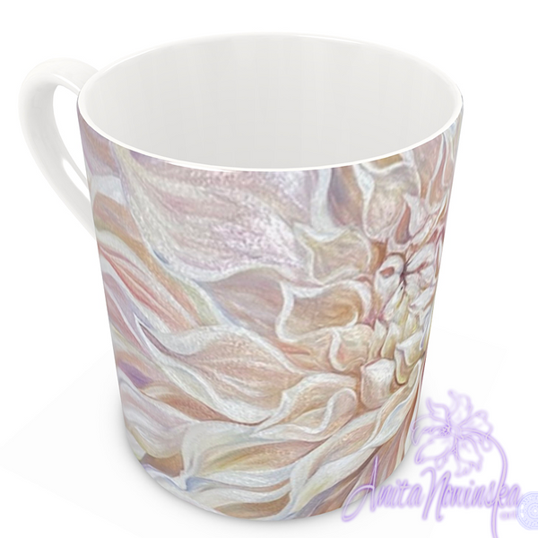 floral art bone china cup home accessories, dahlia