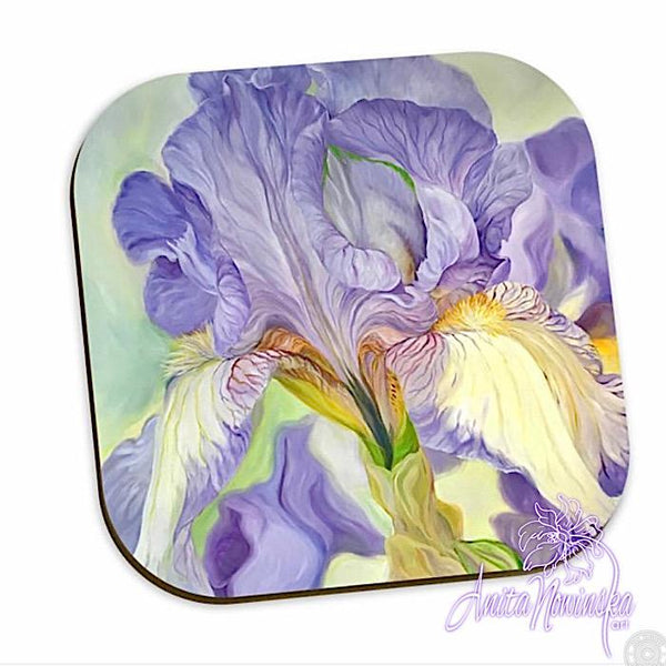 lilac iris floral coasters home accessories