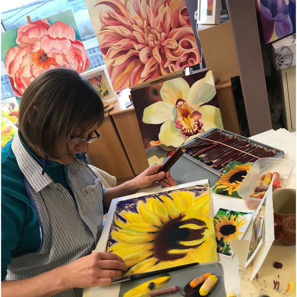 flower painting workshop-anita Nowinska-pipley flowers- bristol- bath- art workshop