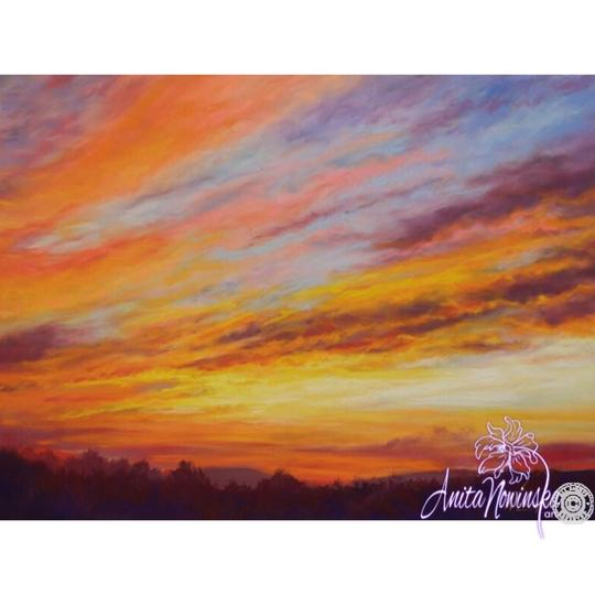 limited edition print of sunset painting by Anita Nowinska