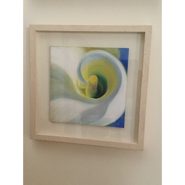 Inner peace- framed calla lily flower painting