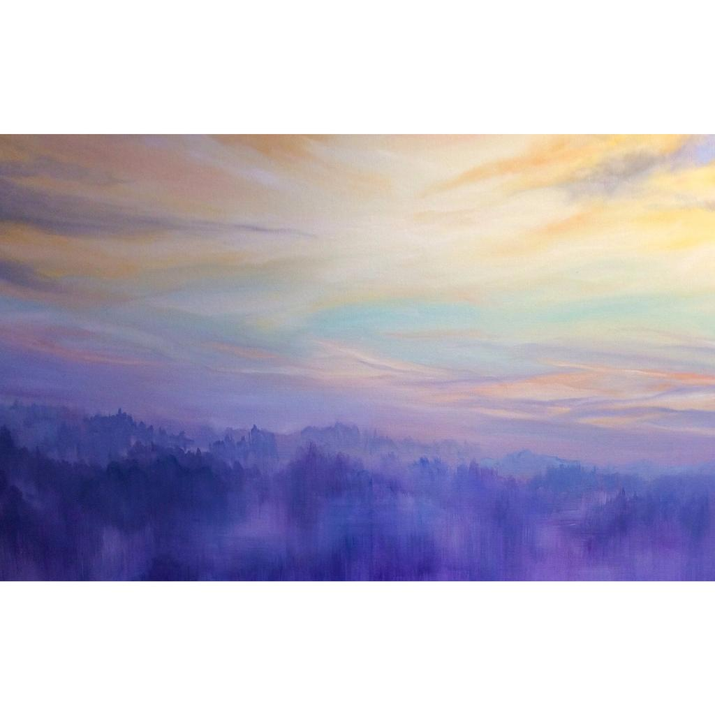 Unveiling- Mist over South Downs at Sunrise