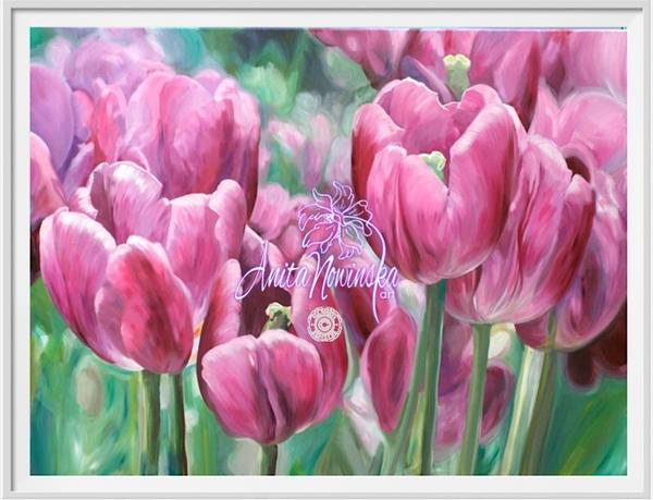 Pretty in Pink- Tulip Flower painting