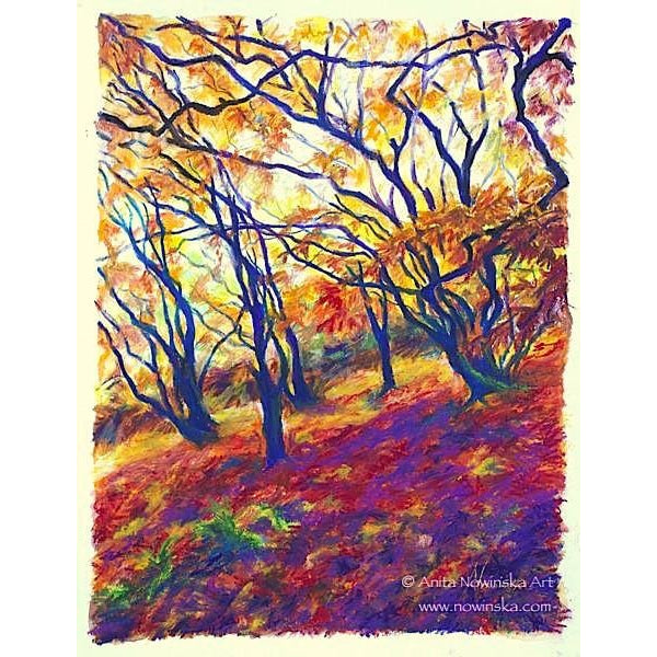 Red carpets- autumn japanese maple-painting