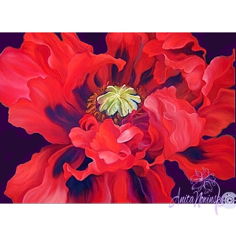 Passion- Red Oriental PoppyPainting