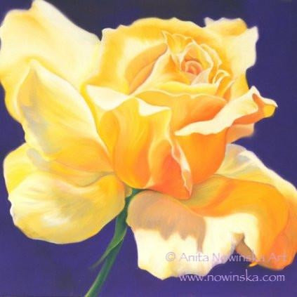 6 Floral Greetings Cards-Summer Affair-yellow rose