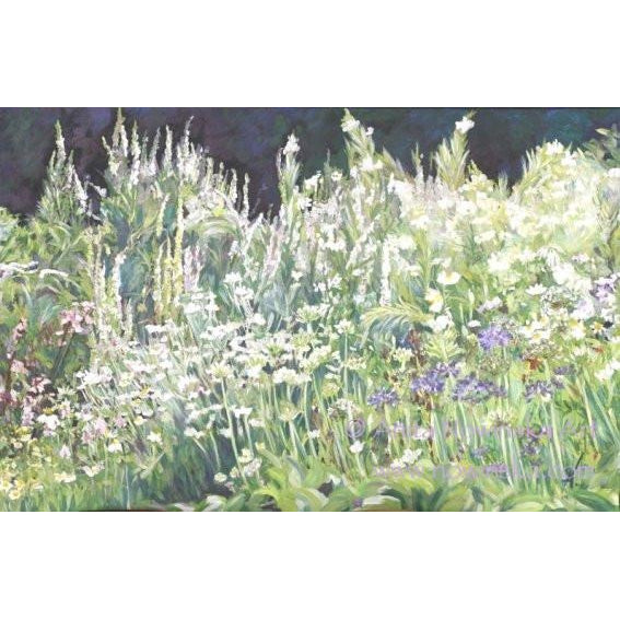 white garden border- flower paintings by anita nowinska