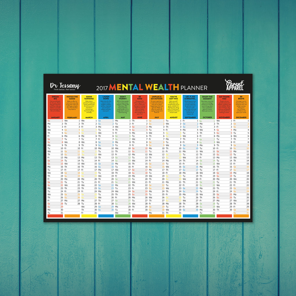 Parent Apparel 2017 Mental Wealth Wall Planner