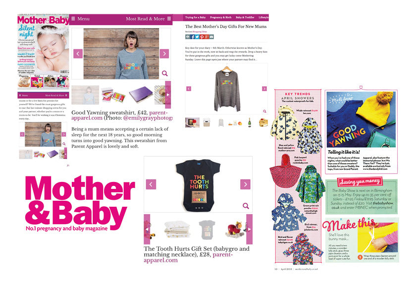 Mother & Baby Magazine Parent Apparel