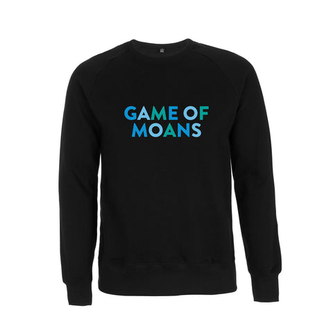 Game of Moans Dad Raglan black Sweatshirt - Parent Apparel Ltd