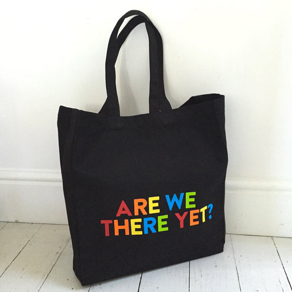 Are we There Yet Large Canvas Shopper Bag - Parent Apparel Ltd - 2