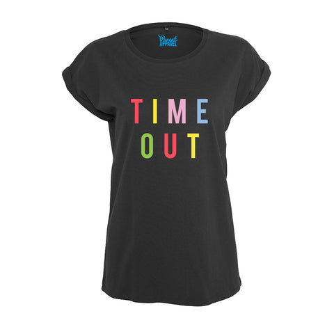 TIME OUT Rolled Sleeved Women's T-Shirt