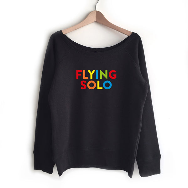 FLYING SOLO ladies wide neck raglan sweatshirt