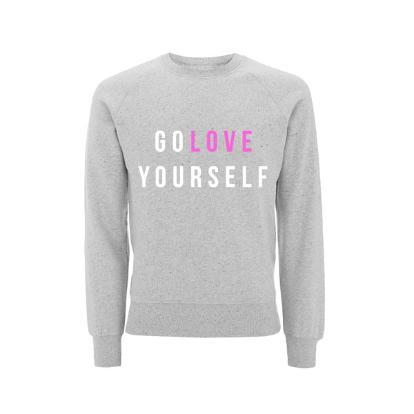 Style Me Sunday GO LOVE YOURSELF sweatshirt - Parent Apparel Ltd