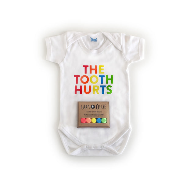 The Tooth Hurts: Lara & Ollie + Parent Apparel Mother/ Baby Gift Set - Parent Apparel Ltd - 6