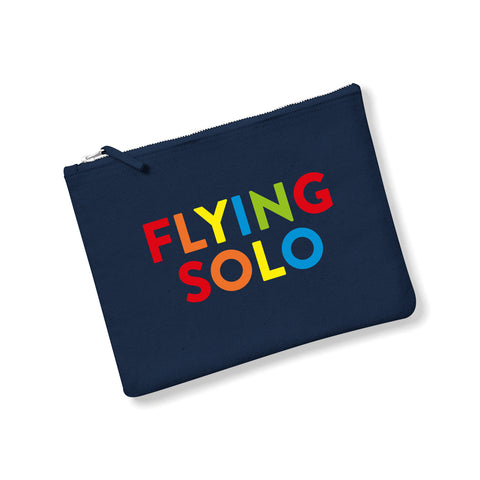 FLYING SOLO Canvas Pouch