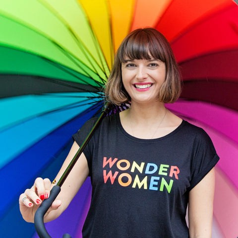 Wonder Women Rolled Sleeved Women's T-Shirt - Parent Apparel Ltd - 1