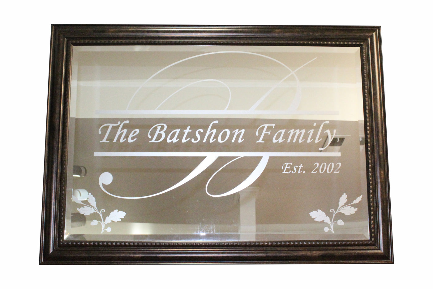 "EXTRA LARGE PERSONALIZED MIRRORS (apx 42""x30"")"