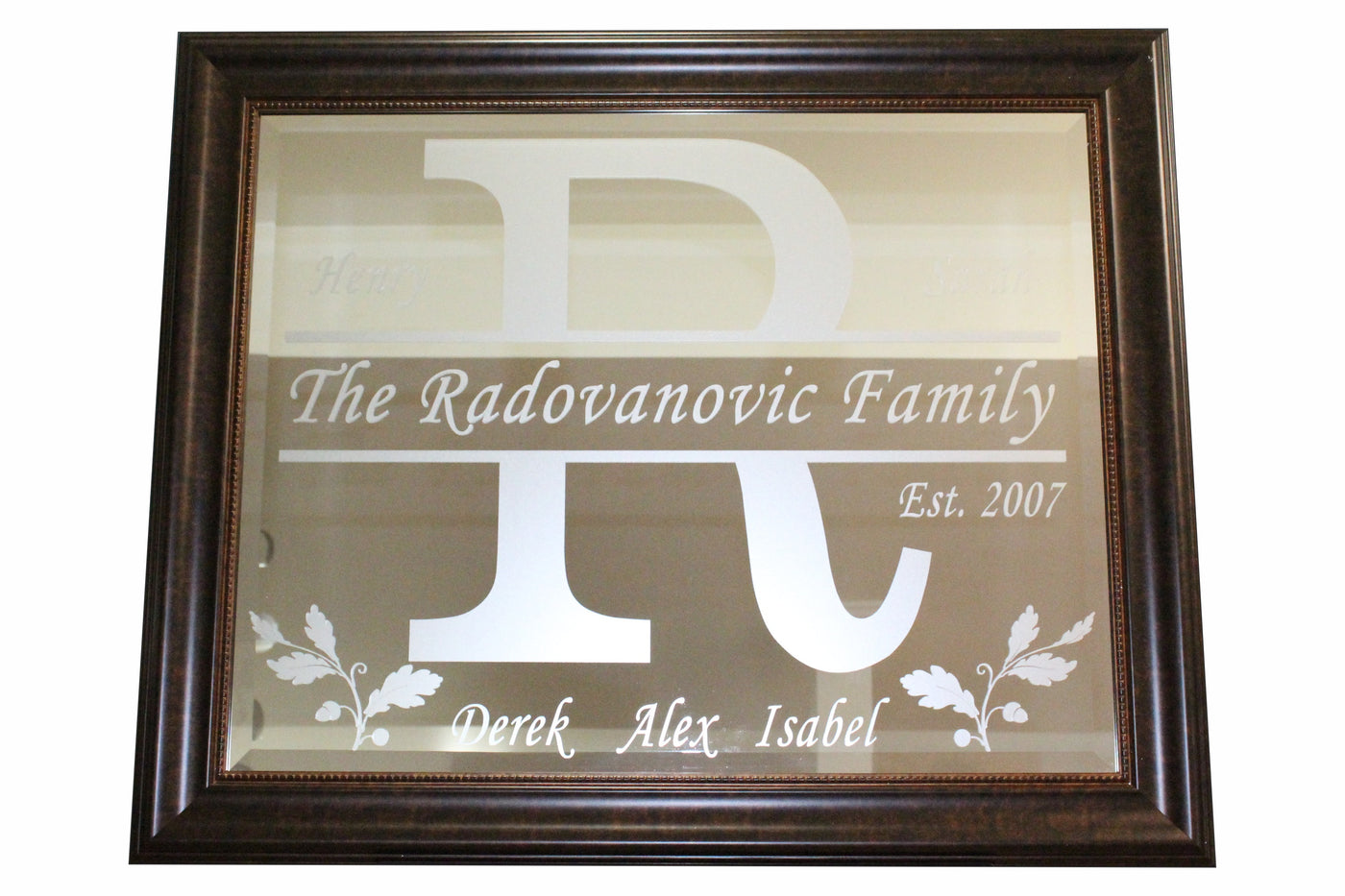 "PERSONALIZED MIRRORS (apx 34""x28"" and smaller)"