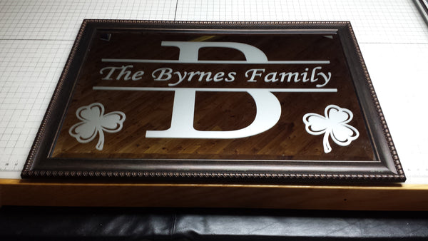 Family Crest Mirrors - Brynes