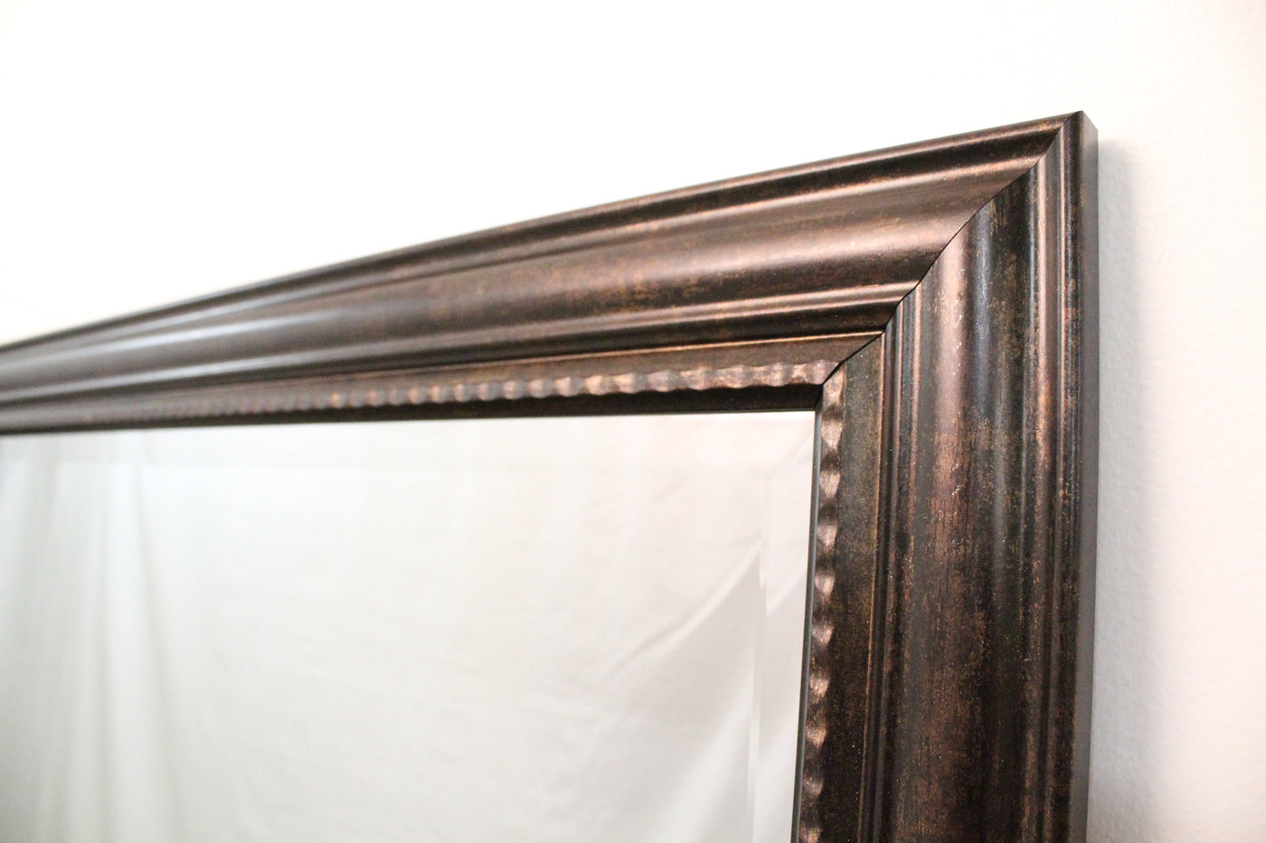 Personalized wall mirror brookside rich wood like finish bevels brookside rich wood like finish with bevels beaded interior wall mirror 42 brookside frame jeuxipadfo Image collections