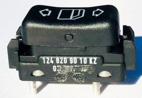 WINDOW SWITCH RIGHT FRONT W124 NEW GENUINE MERCEDES BENZ 260E 300CE 300CE CONVERTIBLE 300CE-24 300D 2.5 TURBO 300E  300E 2.6 300E 2.8 300E 4MATIC