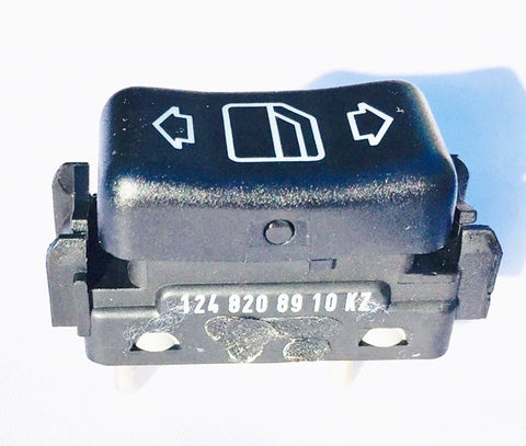 WINDOW SWITCH LEFT FRONT W124 NEW GENUINE MERCEDES BENZ 260E 300CE 300CE CONVERTIBLE 300CE-24 300D 2.5 TURBO 300E  300E 2.6 300E 2.8 300E 4MATIC