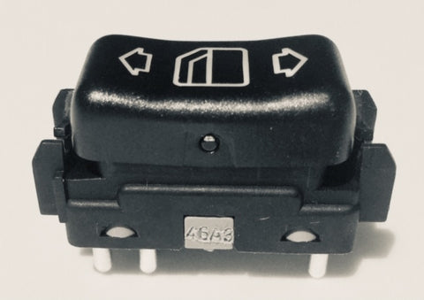 WINDOW SWITCH RIGHT  REAR W124 NEW GENUINE MERCEDES BENZ 260E 300CE 300CE CONVERTIBLE 300CE-24 300D 2.5 TURBO 300E  300E 2.6 300E 2.8 300E 4MATIC