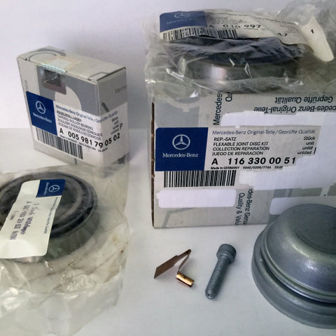 NEW ORIGINAL MERCEDES-BENZ FRONT WHEEL  BEARING  COMPLETE  KIT   W116.036  450SEL  6.9   W123  300D-T   W126  500SEL