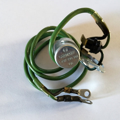 NEW GENUINE MERCEDES-BENZ  IGNITION  CONDENSER  GREEN  LONG  WIRE W114 250C 250, W108 280S