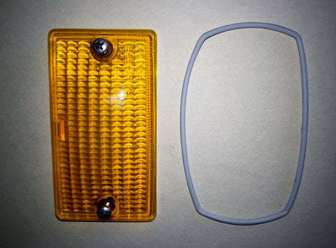 NEW ORIGINAL MERCEDES-BENZ R107 FRONT TURN-SIGNAL LENS RIGHT AND LEFT 280SL 280SLC 350SL 350SLC 380SL 380SLC 450SL 450SLC 560SL 500SLC 450SLC 5.0 500SL