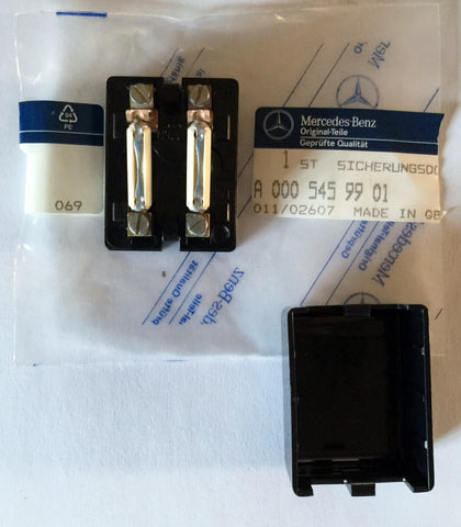 new genuine mercedes-benz germany auxiliary fuse box w/kit cover  mounting-screw