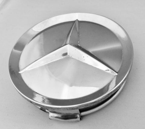 NEW CHROME CENTER HUB CAP LOGO ORIGINAL MERCEDES-BENZ  W201 190D 2.2 190D 2.5 190D 2.5 TURBO 190E 2.3 190E 2.3-16 190E 3.2-AMG 190E 2.6